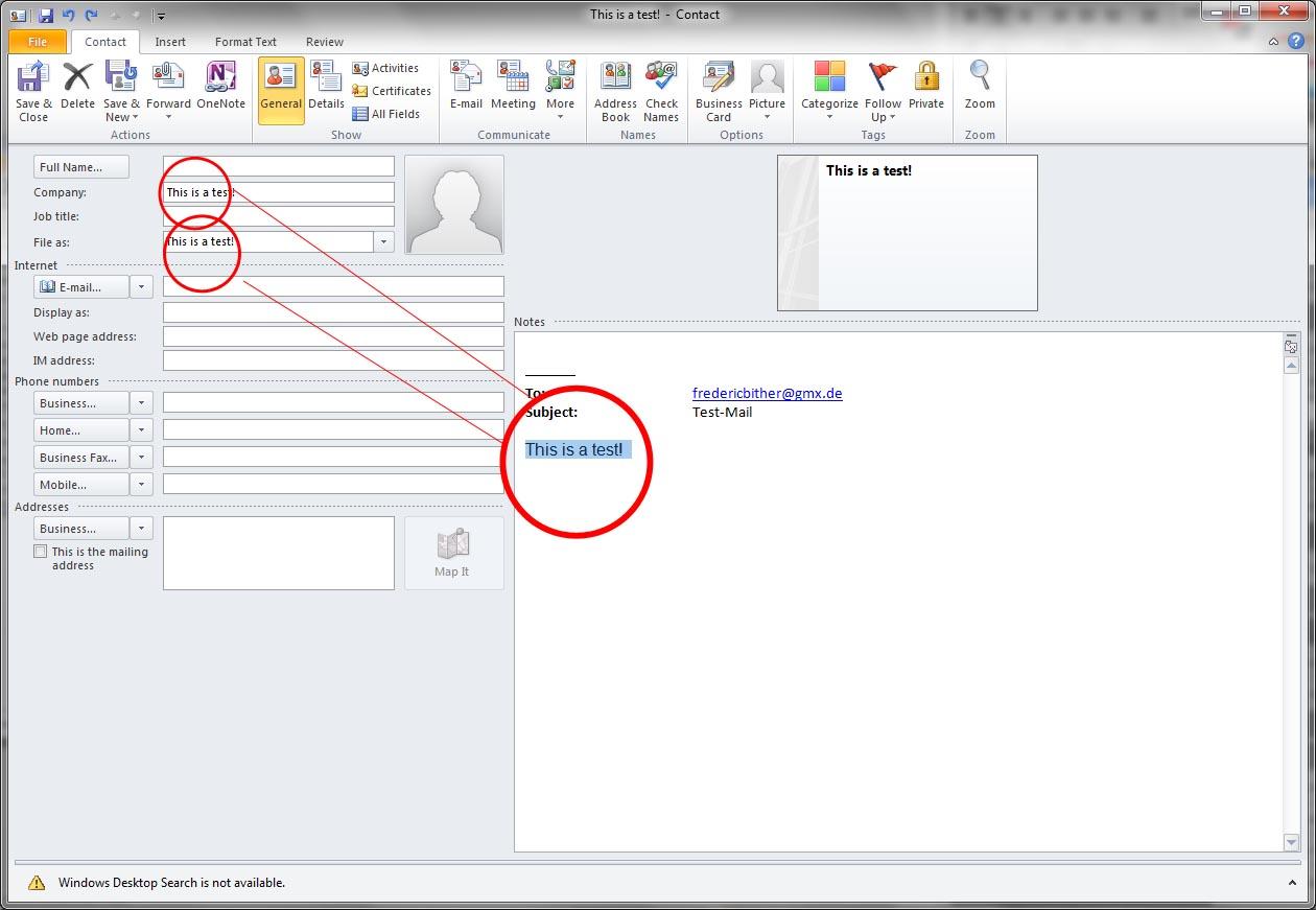 Kontaktnamen kopieren