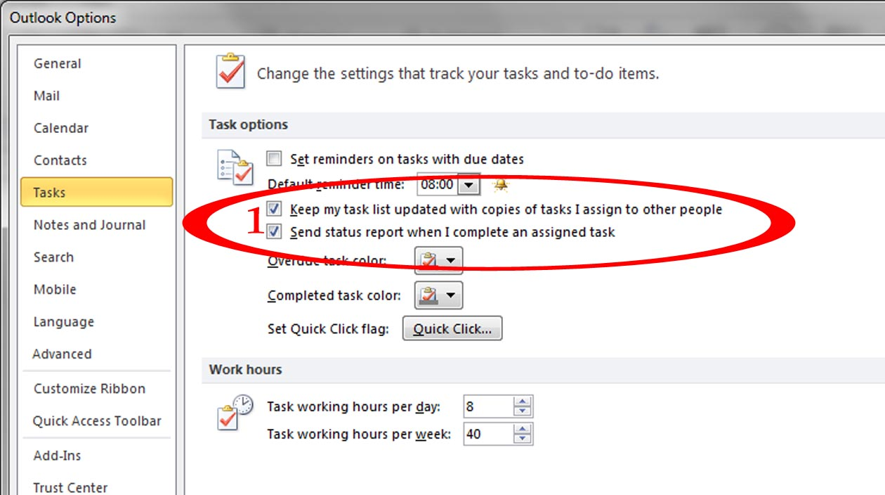 how to send a recurring task in outlook 2010