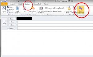 Eine Antwortadresse in Outlook hinzufügen