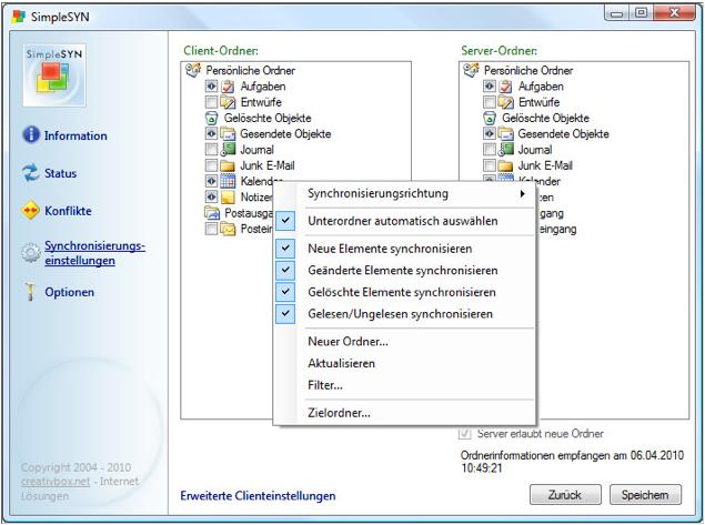 Outlook auf mehreren Rechnern immer aktuell halten – das simpleSYN Synchronisations-Tool