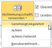 Wie man eine Genehmigt/Abgelehnt-Umfrage in Emails einfügt