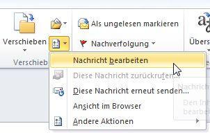 Wie man eine empfangene Email nachträglich ändert