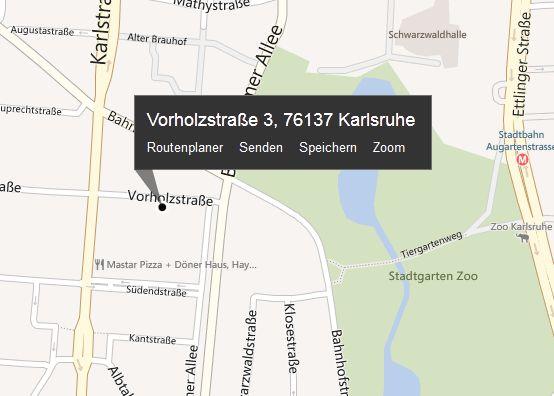 Kontakte auf der Landkarte ansehen