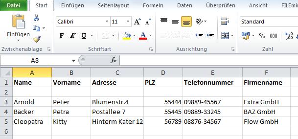 Wie man Probleme beim Import von Adressen aus Excel in Outlook 2010 vermeidet