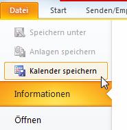Wie man den Outlook-Kalender als iCal exportiert