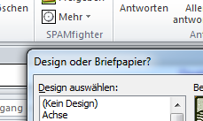 Briefpapiere und Designs in Outlook 2010