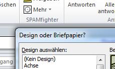 Briefpapiere und Designs in Outlook 2010