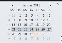 Wie man Wochennummern in Outlook 2010 anzeigen lässt