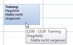 Wie man in Outlook 2010 mehr Termindetails im Kalender anzeigen lässt