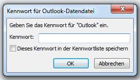 Wie man Outlook per Passwort schützt