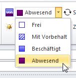 Wie man in Outlook 2010 den eigenen Urlaub im eigenen Kalender einträgt