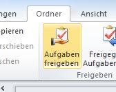 Wie man Aufgaben in Outlook für andere Benutzer sichtbar macht – Variante 1
