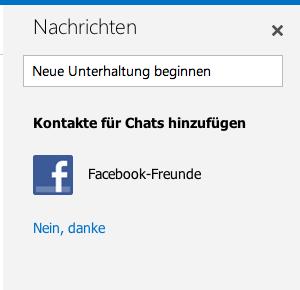 Wie man Outlook.com mit Facebook verbindet