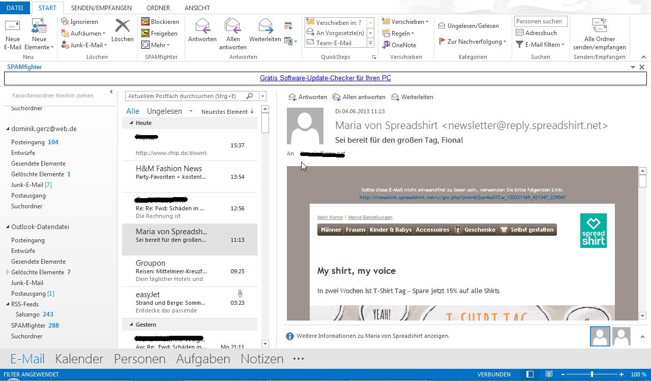 Outlook 2013 - der erste Eindruck