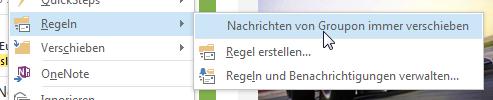 Wie man in Outlook 2013 bestimmte Emails automatisch in Ordner sortiert