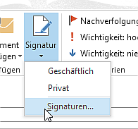 Wie man in Outlook 2013 Signaturen verwendet