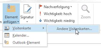 Wie Man In Outlook 2013 Ein Outlook Element Versendet