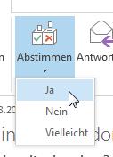 Wie man in Outlook 2013 per Email abstimmen lässt