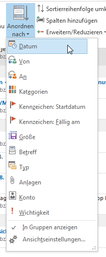Wie man den Posteingang in Outlook 2013 sinnvoll gruppiert