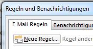 Wie man in Outlook 2013 Regeln für Emails aufstellt