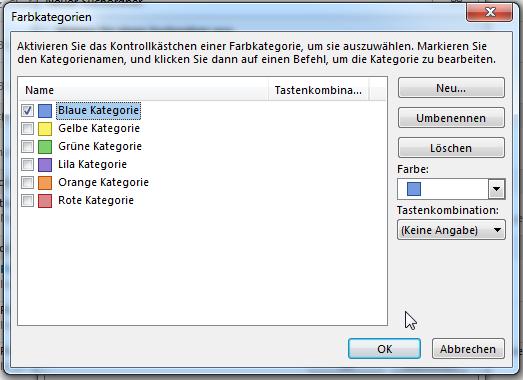 Wie man in Outlook 2013 einen Suchordner für bestimmte Farbkategorien erstellt