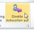 Wie man in Outlook 2010 Antworten weiterleiten lässt