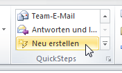 Wie man in Outlook 2010 QuickSteps anlegt