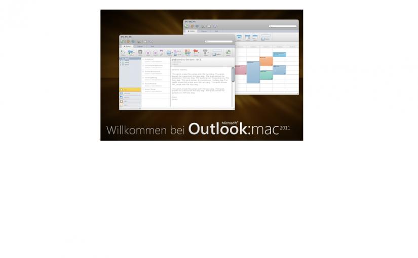Wie man Outlook 2011 für Mac einrichtet