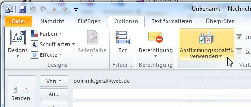 Wie man in Outlook 2010 per Email abstimmen lässt