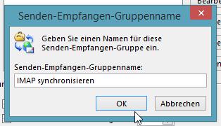 Wie man in Outlook 2013 IMAP-Konten automatisch synchronisiert