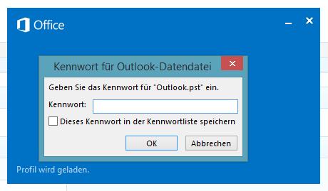 Wie man Outlook 2013 mit einem Passwort schützt