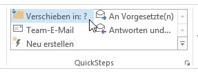 Wie man Aufgaben in Outlook mit QuickSteps automatisiert