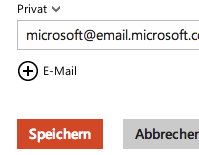 In Outlook.com Kontakte aus Emails speichern