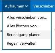 """Die """"Aufräumen""""-Funktion in Outlook.com"""
