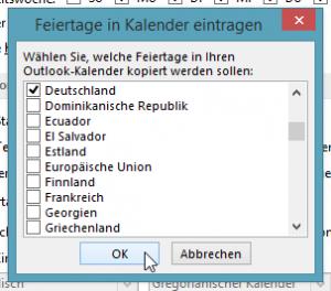 Region auswählen