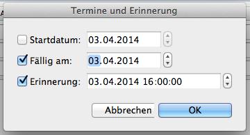 Eine Email zur Nachverfolgung kennzeichnen (Outlook für Mac)