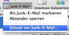 Spam verhindern – den Junk-E-Mail Filter einstellen