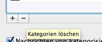 Outlook für Mac: Kategorien löschen