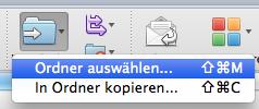 Junk-Email-Ordner aussortieren Outlook für Mac