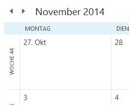 Kalenderwochen in Outlook 2013 anzeigen