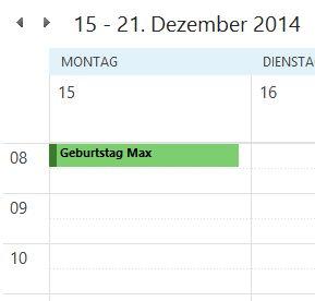 Kalendereinträge in Outlook 2013 farbig markieren