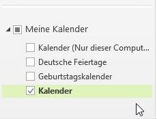 Den Kalender in Outlook 2013 als ics-Datei exportieren