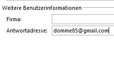 In Outlook 2013 eine Antwortadresse festlegen