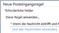 Umleitung einrichten in Outlook Web App