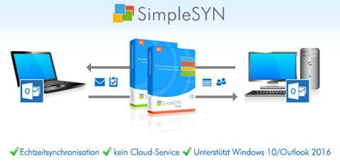 Windows 10 kompatible SimpleSYN Version 4 veröffentlicht: Outlook noch schneller synchronisieren!