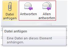 Anhang beim Antworten auf E-Mail in Outlook beibehalten