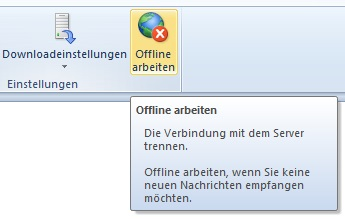 Offline arbeiten in Outlook