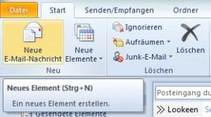 E-Mail Nachricht erstellen