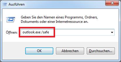 Startprobleme? Outlook im abgesicherten Modus starten