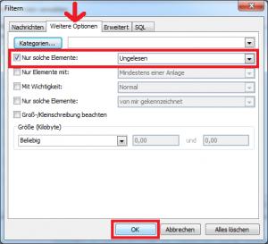Outlook Filter - Nur solche Elemente